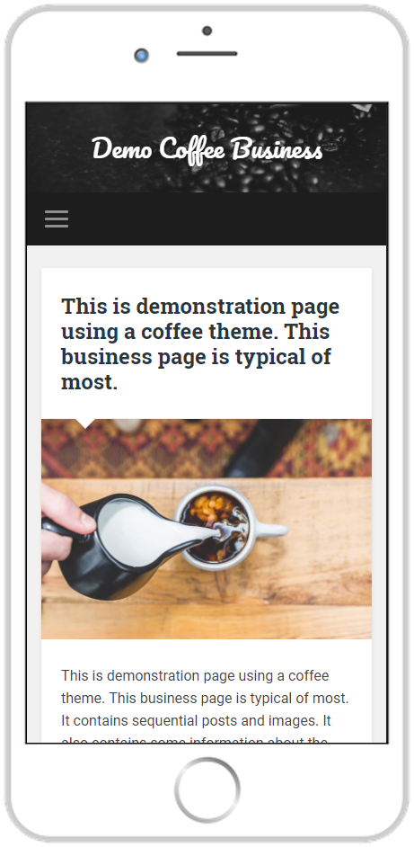 page guru template business featured page smartphone