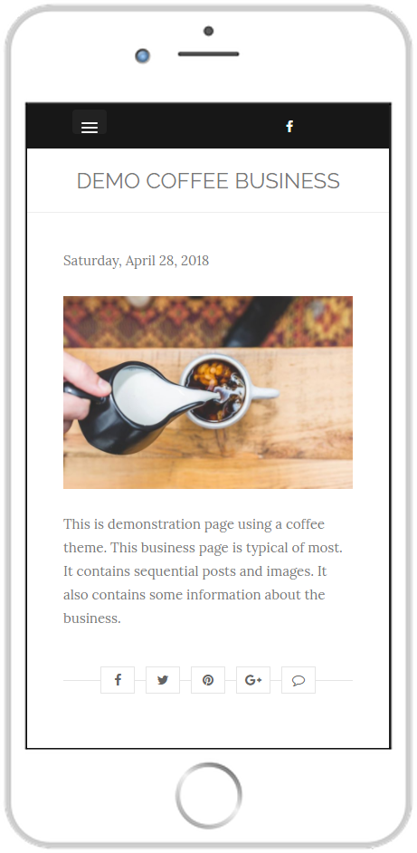 page guru template clean featured page smartphone