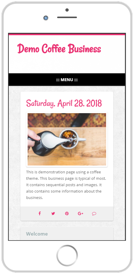 page guru template fun featured page smartphone